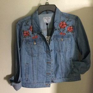 Jackets & Blazers - Festival Floral Embroidered Denim Jacket